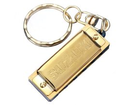 Or Harmonica Keychain