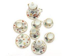 Dollhouse Tea Set 15 Piece Dinnerware
