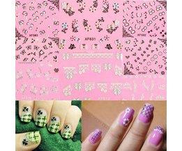 Nail Art Déco Avec Des Papillons Et Dentelle