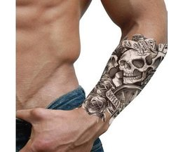 Tatouage Temporaire Autocollant Crâne