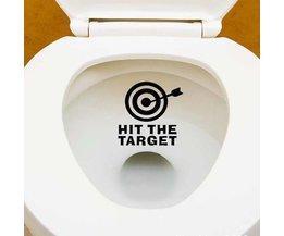 '' HIT LA CIBLE '' Autocollant WC