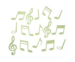Autocollant Mural Musical Notes Glow In The Dark 15 Pieces