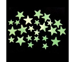 Glow In The Dark Autocollants Etoiles Mur (35 Pieces)