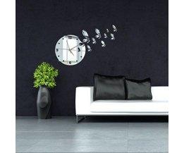 Horloge Murale Avec Butterfly Theme Autocollant Mural