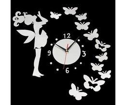 Do-It-Yourself Wall Sticker Horloge