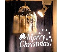 Décoration De Fenêtre De Noël Autocollant De Joyeux Noël