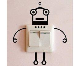 Autocollant Mural Robot