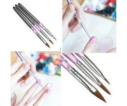 Gel Nails Set Avec Gel UV