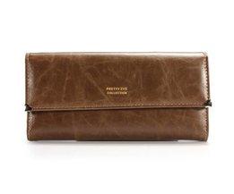 Cuir PU Clutch Wallet