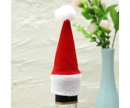 Mini Chapeau De Père Noël Pour Bouteille