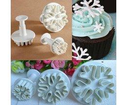 Mold Pour Dessert Décoration Snowflake (3 Pieces)