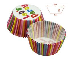 Cupcake Paper Pieces Avec Stripes