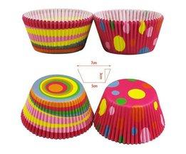 Colorful Papier Cupcake Coupes 100 Pièces