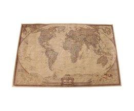 Carte De Vieux Monde Affiche