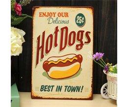 Retro Publicité Hot Dogs