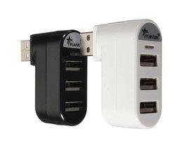 USB 2.0 Splitter 3 En 1