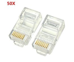 RJ45 Ethernet Connector 50 Pieces