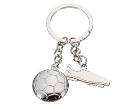 Argent Coupe Du Monde De Football Keychain