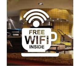 Wifi Gratuit À L'Intérieur Autocollant Pour La Fenêtre