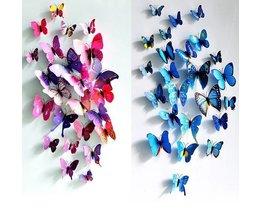 Aimant Autocollants Décoration Papillons 3D