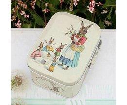 Magnifiquement Retro Tin Avec Peter Rabbit