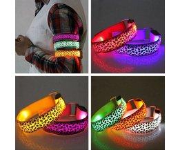 Bracelet LED Avec Imprimé Léopard