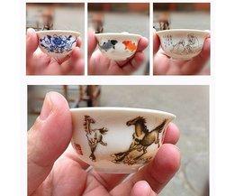 Porcelaine Peinte Teacup Chinoise