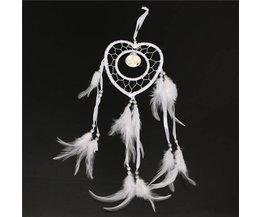 En Forme De Coeur Blanc Dreamcatcher