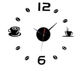 Horloge Wall Sticker Café