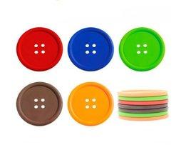 Coaster Bouton De Silicone