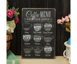 Métal Décoratif Coffee Board 30 X 20CM