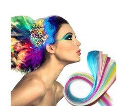 Extensions De Cheveux Différentes Couleurs 5 Pcs