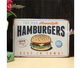 Vintage Publicité Hamburgers
