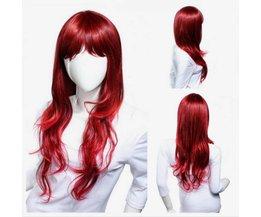 Perruque De Cheveux Bouclés Rouge