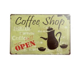 Plaques Métalliques Café