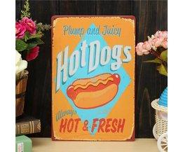 Pegboard Avec Le Texte À Propos Hotdog