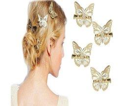 Pince À Cheveux Dans La Forme D'Un Papillon 2 Pcs
