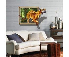 Autocollant Mural Tiger