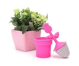 Thé Infuser Avec Flower Design