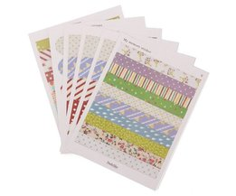 6 Feuilles Scrapbook Stickers