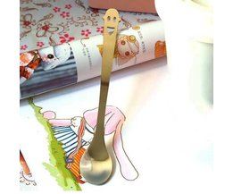 Teaspoon Avec Smiley En Acier Inoxydable