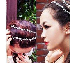 Glitter Band Cheveux Élastiques Avec Crystal Bloemetjes