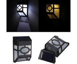 Éclairage Extérieur Sur L'Énergie Solaire Avec Capteur