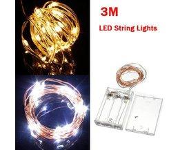 Lumière Cordes Avec 30 Lumières LED (3M)