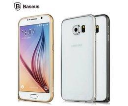 Argent Metal Frame Pour Samsung Galaxy S6