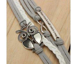 Cuir Multi Bracelet Avec Owl Going On