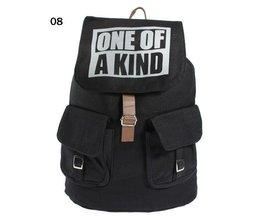 Black Canvas Backpack