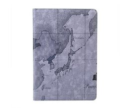 Case World Map Mode Pour IPad Mini