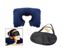 Masque Neck Pillow Eye Voyage Kit Écouteurs