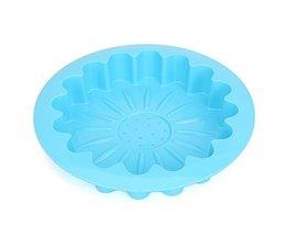 Gâteau De Mousseline De Soie Avec Sunflower Shape Design